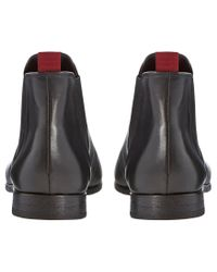 Bertie Black Modern Leather Chelsea Boots for men