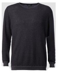 Roberto Collina - Black Crew Neck Sweater for Men - Lyst