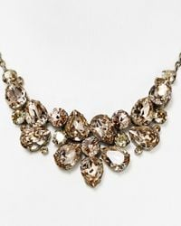 Sorrelli | Metallic Cluster Bib Necklace, 17"