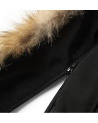 Canada Goose Black Chateau Parka With Fur Hood for men