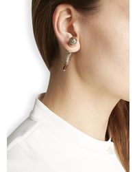 Givenchy | Metallic Gold Tone Crystal Shark Earring | Lyst