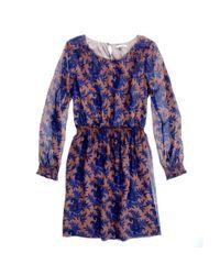 Madewell Blue Paisley Bloom Dress