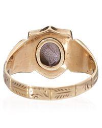 Annina Vogel - Metallic Gold Antique Locket Signet Ring - Lyst