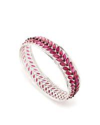Lauren X Khoo - Pink Garland Bracelet - Lyst