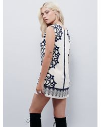 Free People | White Womens Geodesic Dunes Shift Dress | Lyst