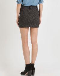 Maje Black Skirt Fibranne Mini