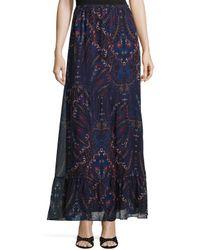 Joie - Multicolor Traluna Paisley-print Chiffon Skirt - Lyst