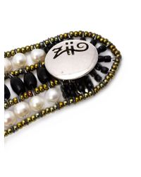 Ziio - Metallic Beaded Cuff - Lyst