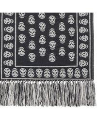 Alexander McQueen - Natural Tasseled Border Wool Scarf for Men - Lyst