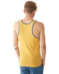 Alternative Apparel - Yellow Double Ringer Eco-jersey Tank Top for Men - Lyst