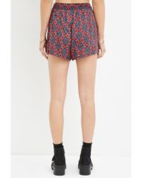 Forever 21 | Red Geo Print Drawstring Shorts | Lyst