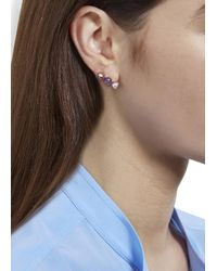 MFP MariaFrancescaPepe | Pink 23Kt Rose Gold Plated Swarovski Earrings | Lyst
