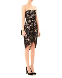 Lover - Black Courtney Strapless Lace Dress - Lyst
