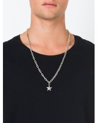 DIESEL Metallic Star Pendant Necklace for men