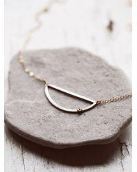 Free People - Metallic Melissa Joy Manning Womens Crescent Diamond Necklace - Lyst