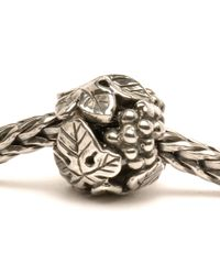 Trollbeads - Metallic Wine Harvest Silver Charm Bead - Lyst