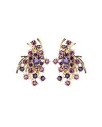 Oscar de la Renta | Multicolor Crystal Clip-on Earrings | Lyst