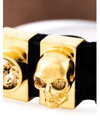 Alexander McQueen | Black Embellished Skull Bracelet | Lyst