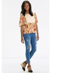 Oasis White Embroidered Floral Top