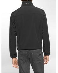 Calvin Klein | Black White Label Lightweight Zip Front Jacket | Lyst