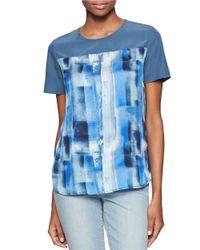 Calvin Klein Jeans | Blue Printed Tee | Lyst