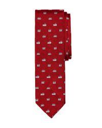 Brooks Brothers - Red Radio Slim Tie for Men - Lyst