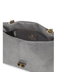 Lanvin Metallic Happy Medium Silver Leather Shoulder Bag