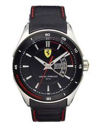 Scuderia Ferrari | Black 'gran Premio' Leather Strap Watch for Men | Lyst