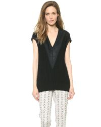 Rag & Bone Black Talia Sleeveless Pullover White