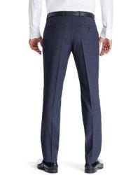 BOSS - Blue 'genesis'   Slim Fit, Virgin Wool Dress Pants for Men - Lyst