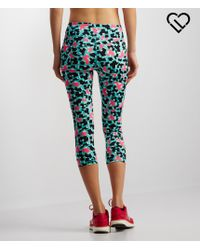 Live Love Dream | Green Lld Puzzle Cropped Leggings | Lyst
