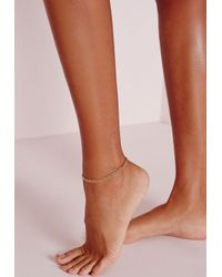 Missguided | Multicolor Multi Layer Chain Anklet | Lyst
