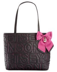 Betsey Johnson | Black Macy's Exclusive Signature Tote | Lyst