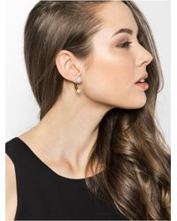 BaubleBar - White Pearl Hardware Ear Jackets - Lyst