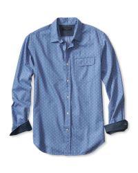 Banana Republic | Blue Tailored Slim-fit Custom 078 Wash Multi-dot Shirt for Men | Lyst