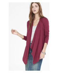 Express | Purple Draped Front Cover-up | Lyst