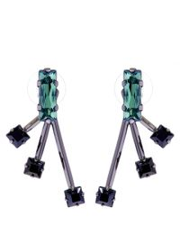 Joomi Lim | Green And Black Shape Shifter Swarovski Crystal Stud Earrings | Lyst