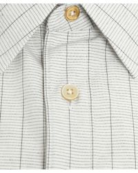 Paul Smith - White Graph Paper Check Cotton Shirt for Men - Lyst