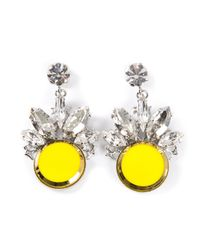 Anton Heunis | Yellow Embellished Earrings | Lyst