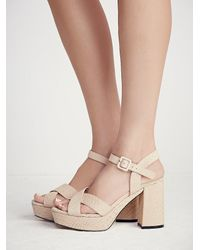 Free People | Natural Honeycomb Platform Heel | Lyst