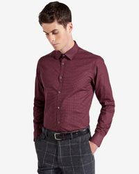 Ted Baker - Red Circle Print Shirt for Men - Lyst