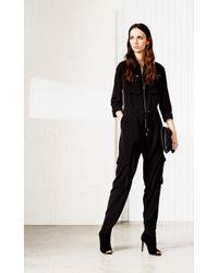 Karen Millen   Black Soft Jumpsuit   Lyst