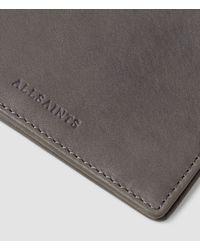 AllSaints Gray Attain Cardholder for men