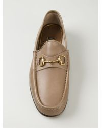 Gucci - Natural Horsebit Loafers - Lyst