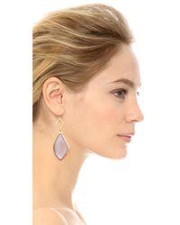 Alexis Bittar Purple Crystal Dangle Earrings - Prairie Crocus