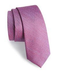 Calibrate Purple 'sunset' Solid Silk Tie for men