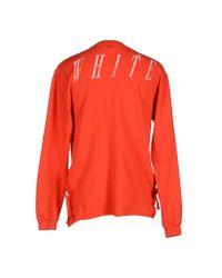 Off-White c/o Virgil Abloh | Red Sweatshirt for Men | Lyst