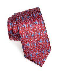Ermenegildo Zegna - Red Floral Paisley Silk Tie for Men - Lyst