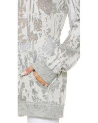 Norma Kamali - Gray Sweats Boyfriend Sweatshirt - Distressed Grey - Lyst