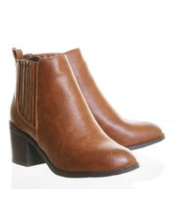 Office | Brown Imitate Chelsea Ankle Boots | Lyst